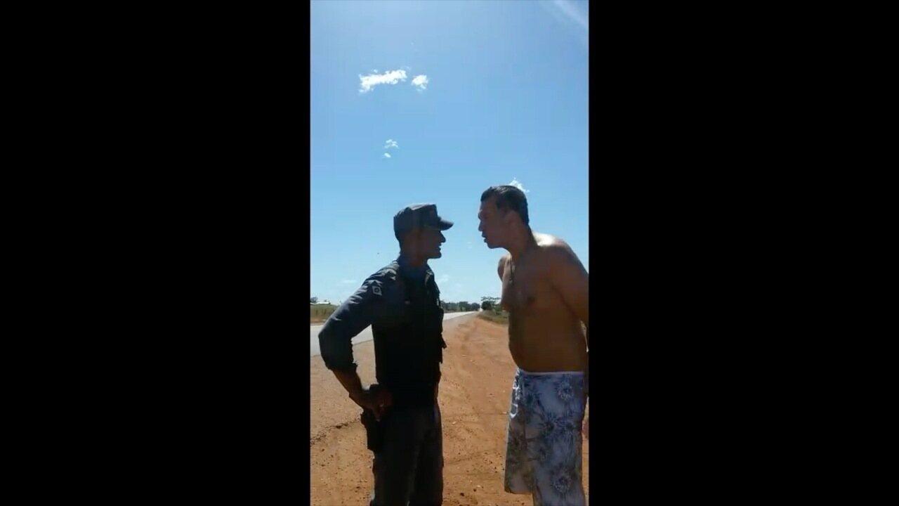 Vídeo mostra promotor durante abordagem policial em MT