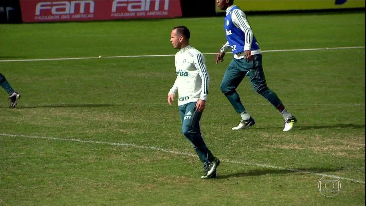 Palmeiras conta com volta de Guerra no último treino antes de viagem para o Equador