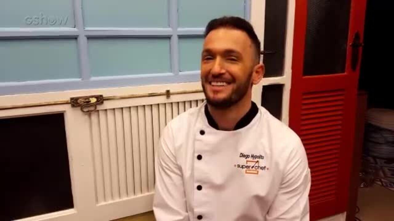 Diego Hypolito, eliminado do Super Chef, bate papo com Felipe Suhre