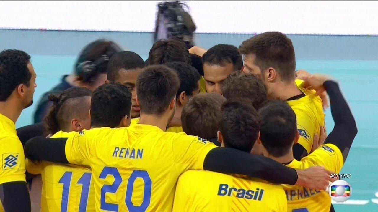 Melhores momentos de Brasil 3 x 2 Rússia pela Liga Mundial de vôlei