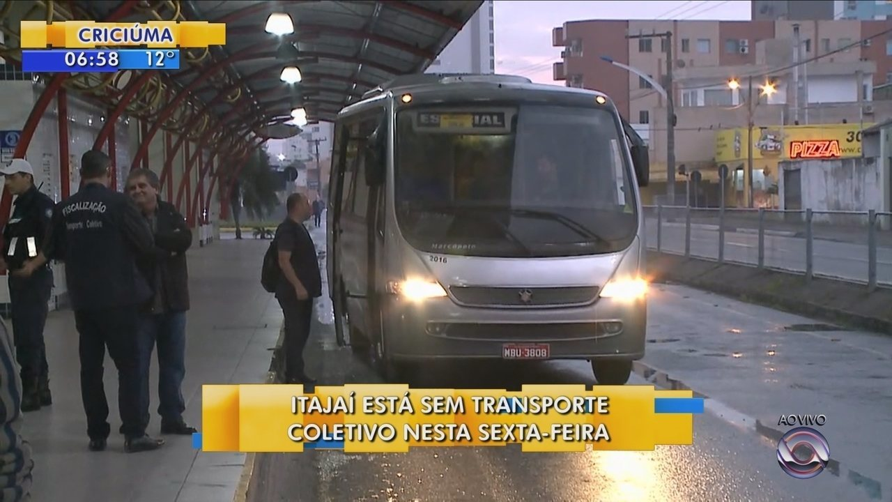 Itajaí segue sem ônibus nesta sexta-feira (7); veja alternativas de transporte
