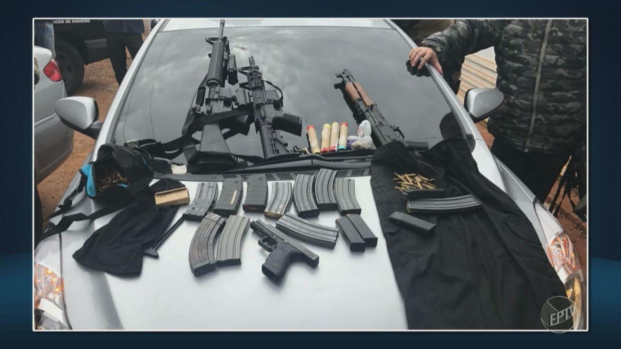 DEIC realiza operação contra quadrilha de assalto a carros-fortes em Artur Nogueira