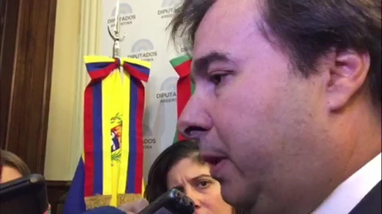 Maia reafirma apoio ao governo e diz que DEM seria último partido a deixar base aliada