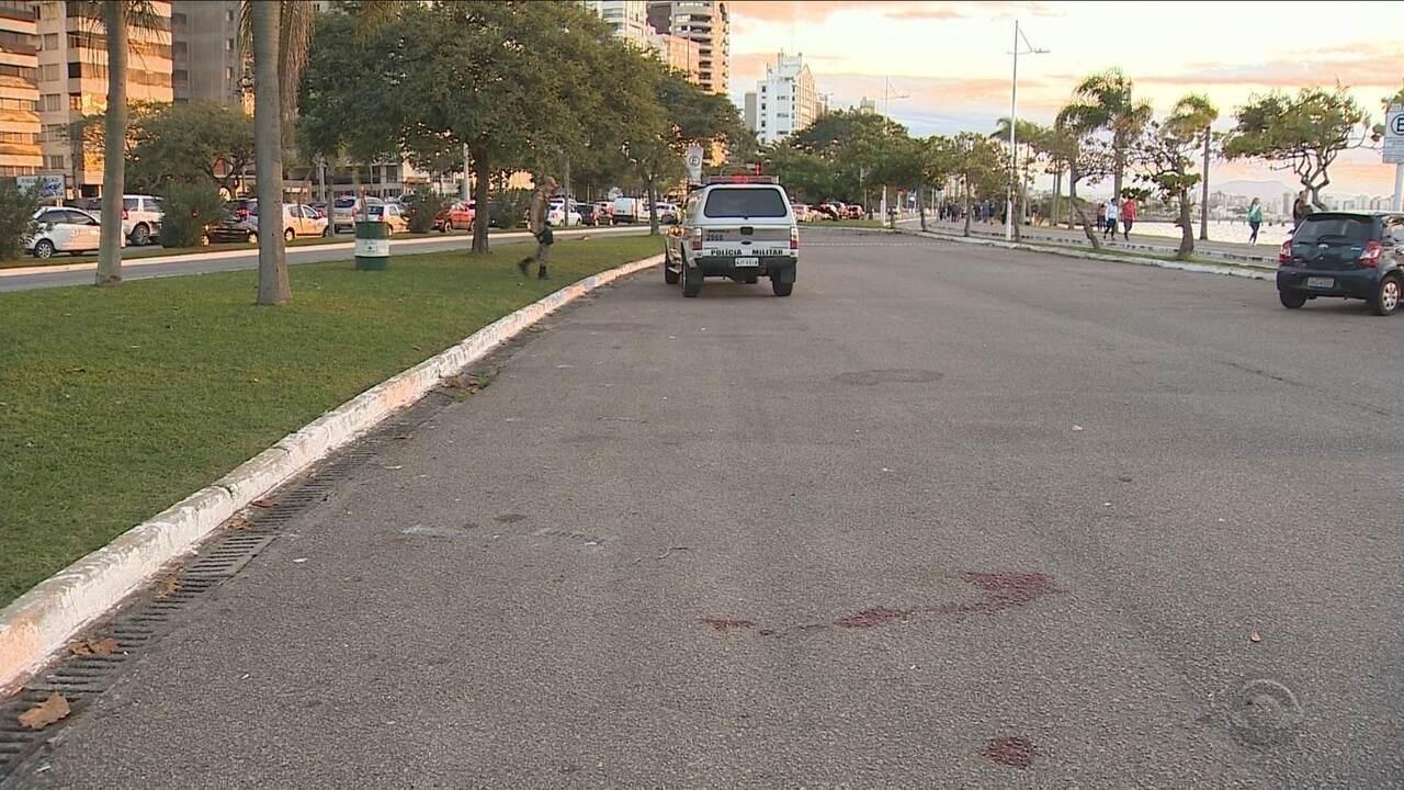 Policial militar é atropelado em abordagem a carro suspeito em Florianópolis