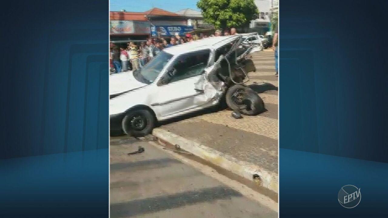 Motorista passa mal e provoca acidente no Centro de Limeira