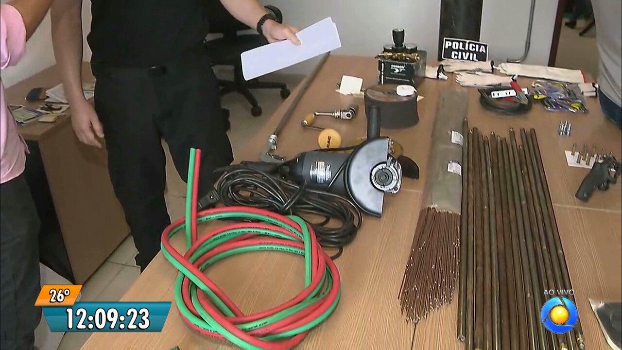 Polícia prende quatro pessoas acusadas de arrombar caixas eletrônicos