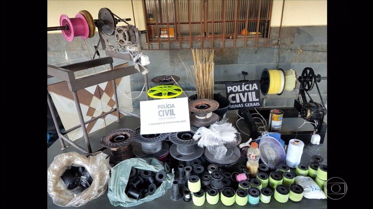 Polícia pende homem suspeito de ter fábrica de 'linha chilena' em Belo Horizonte