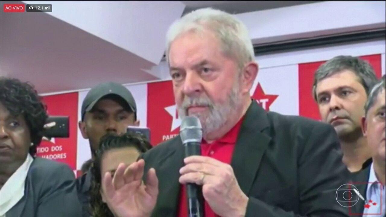 Ex-presidente Lula se diz inocente da condenação por corrupção e lavagem de dinheiro