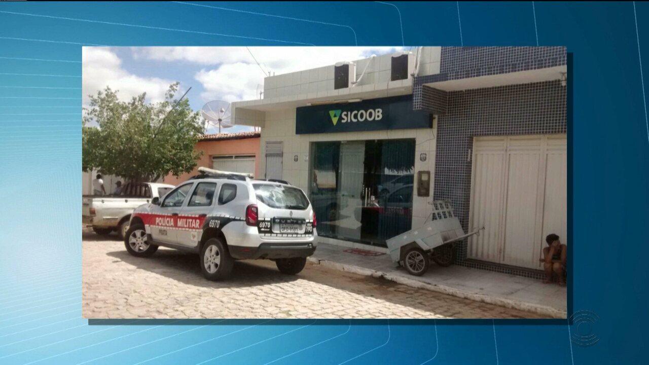 Bandidos assaltam cooperativa de crédito na cidade de Prata, no Cariri da Paraíba