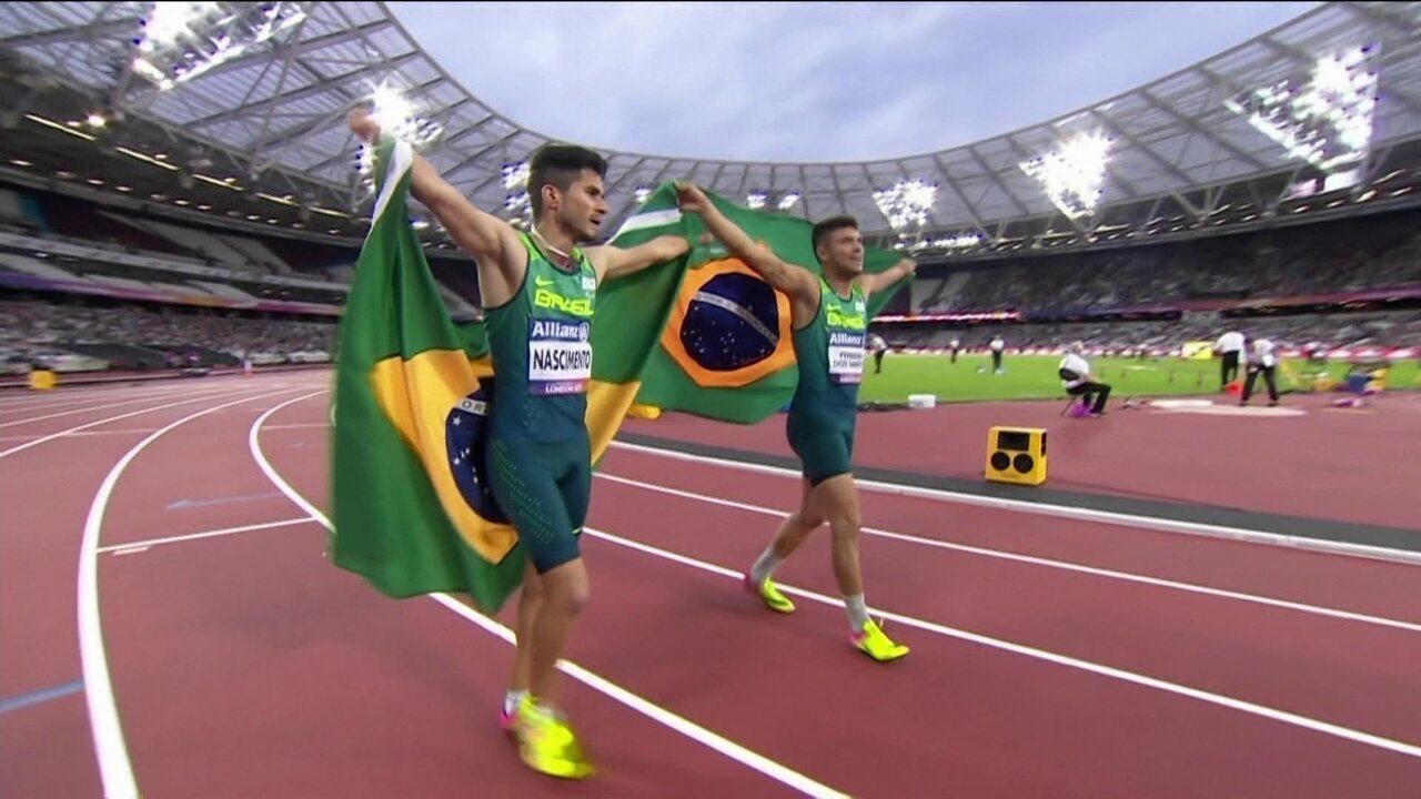 Resultado de imagem para Petrúcio Ferreira é campeão em Londres e bate novo recorde mundial nos 100m