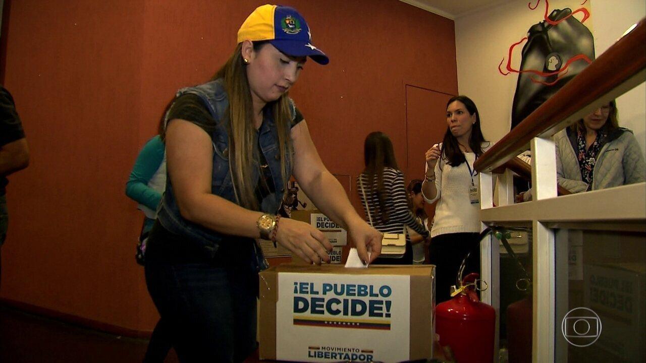 Plebiscito extraoficial na Venezuela tem um morto e três feridos