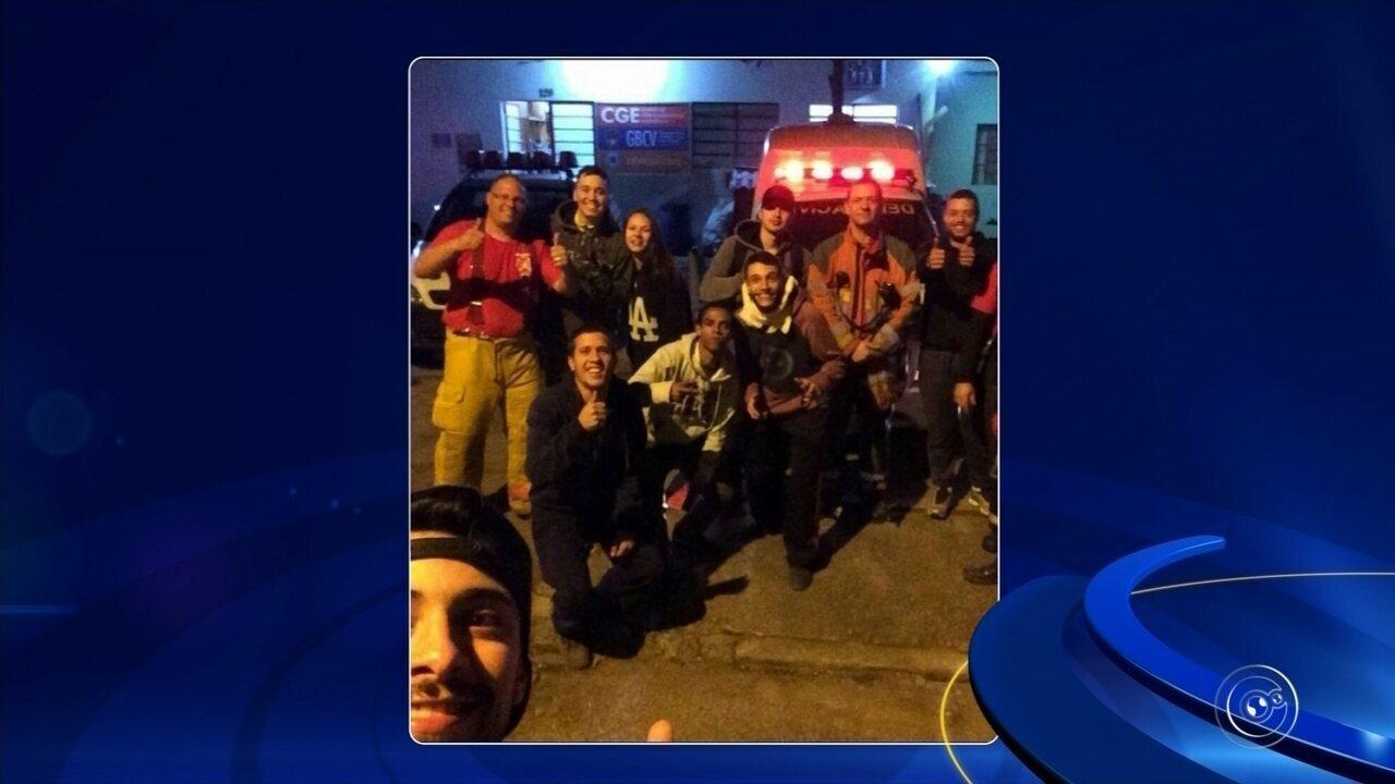 Grupo em acampamento é 'cercado' por incêndio em Várzea Paulista
