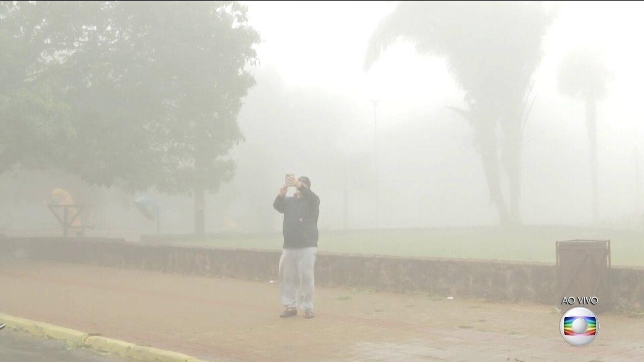 Frio chega até à Chapada dos Guimarães, em Mato Grosso