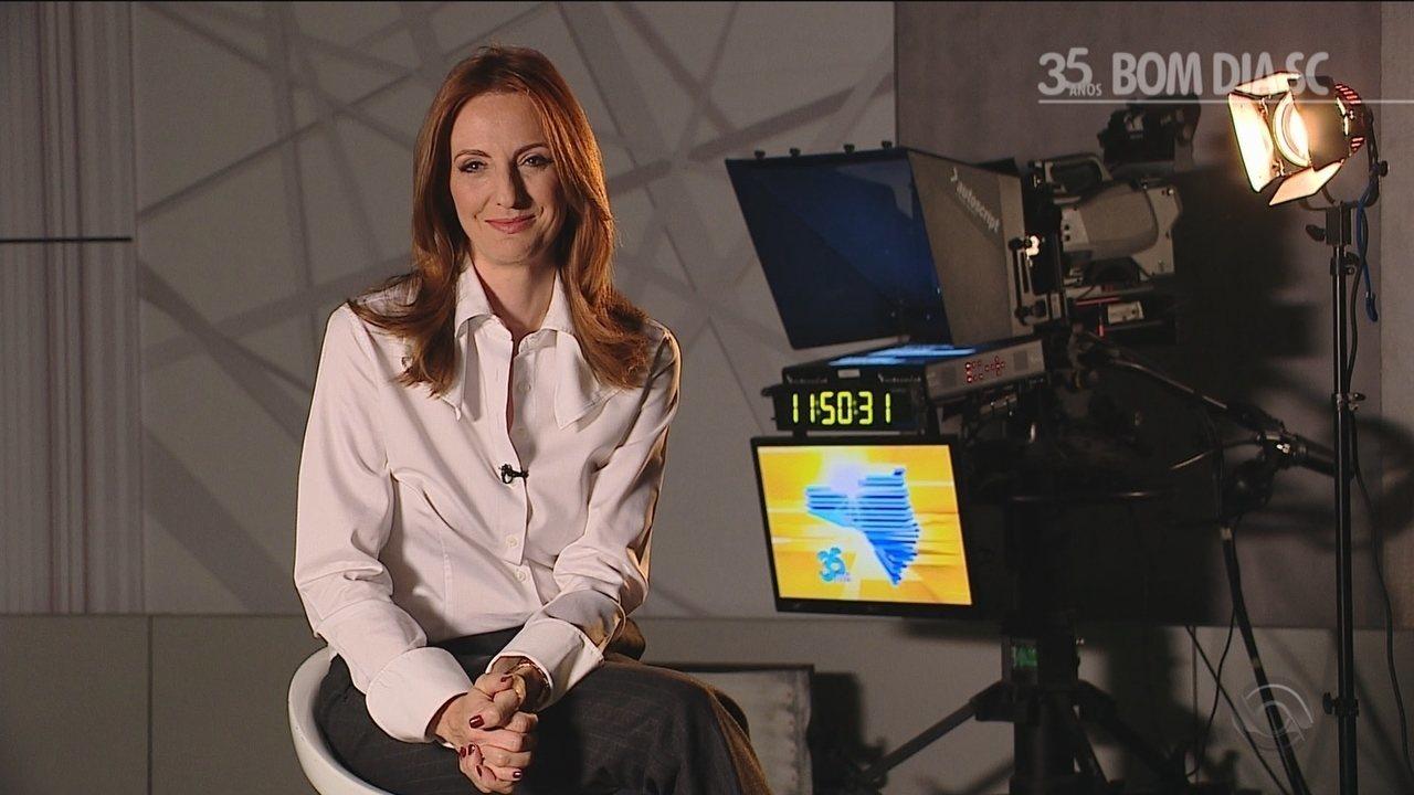 Adriana Krauss fala dos momentos marcantes na bancada do Bom Dia SC