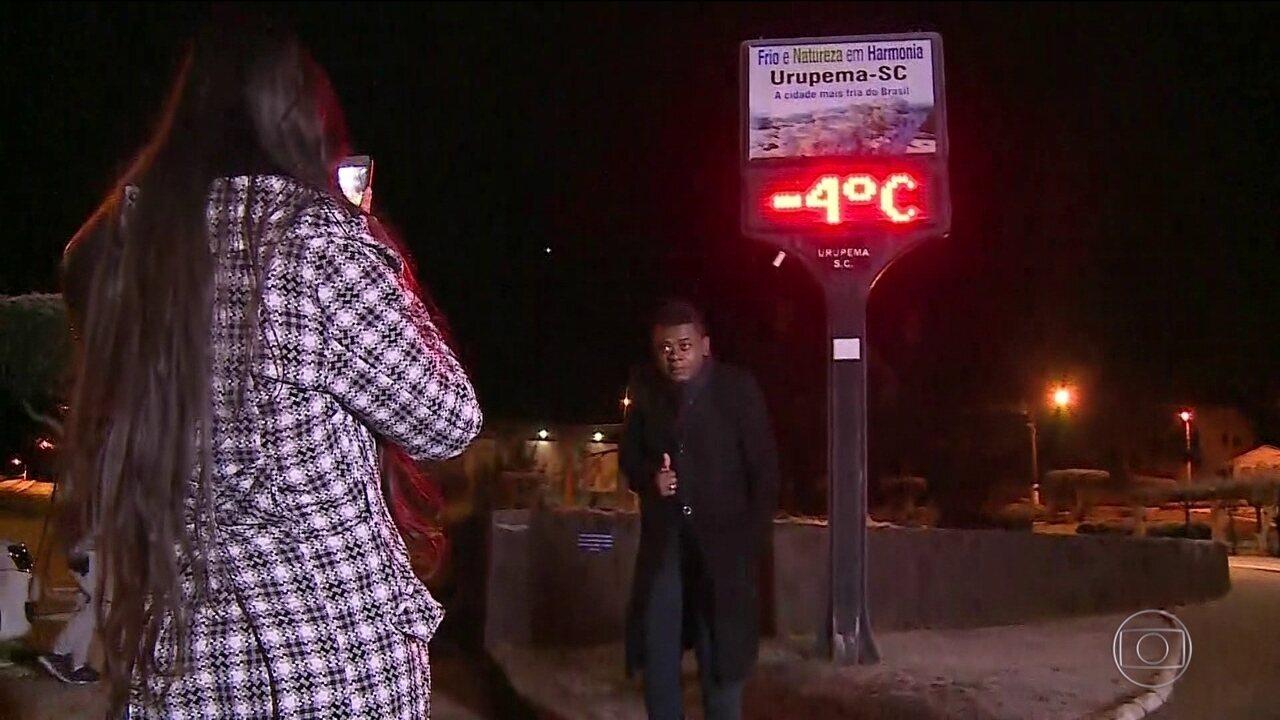 Onda de frio derruba temperaturas em boa parte dos país