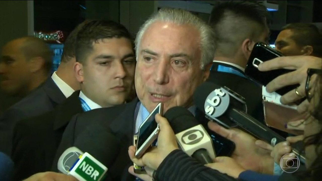 Temer já está na Argentina para receber a presidência temporária do Mercosul