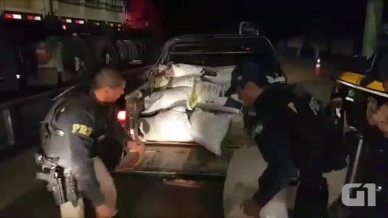 PRF apreende 254 kg de maconha em veículo no Sul do PI