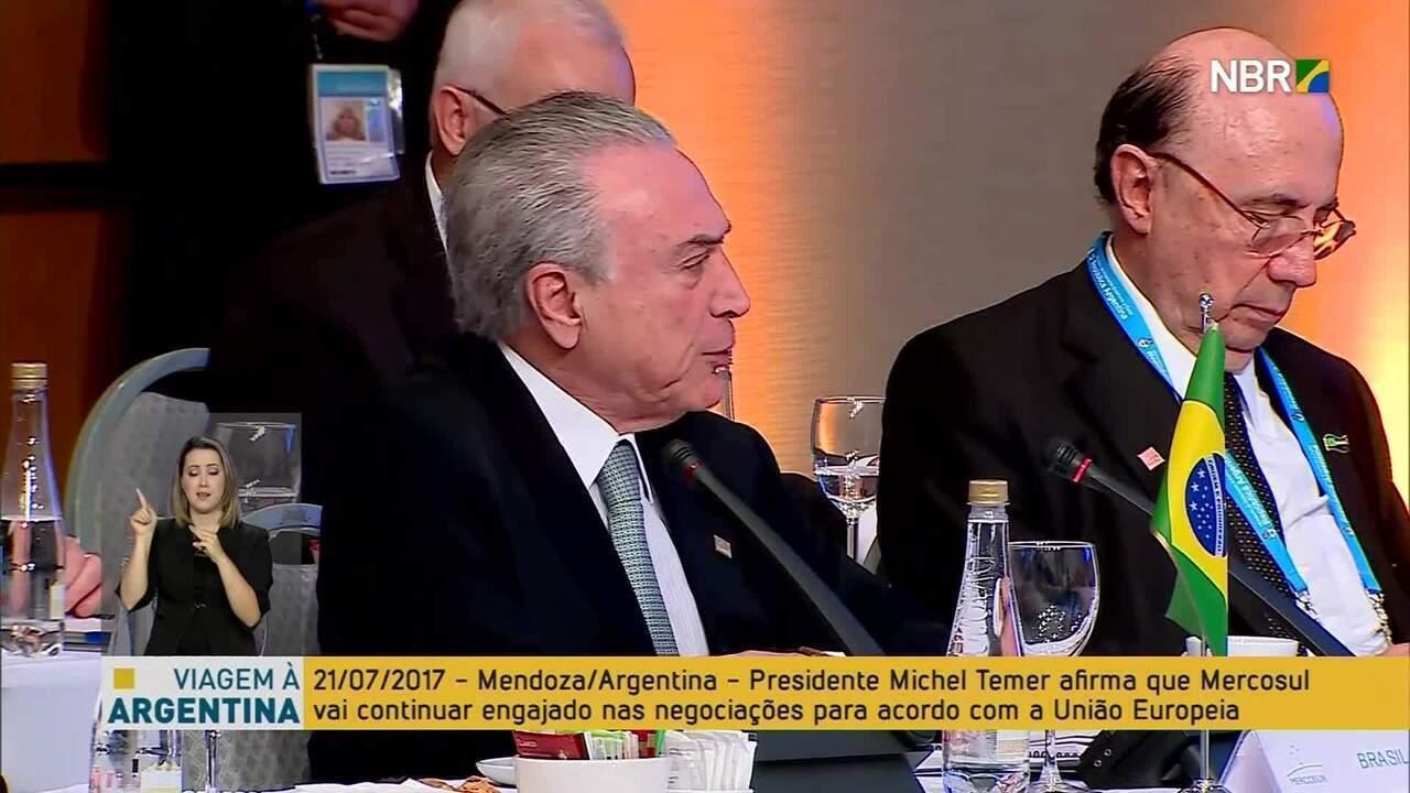 Temer diz que Mercosul reconheceu rompimento da democracia na Venezuela