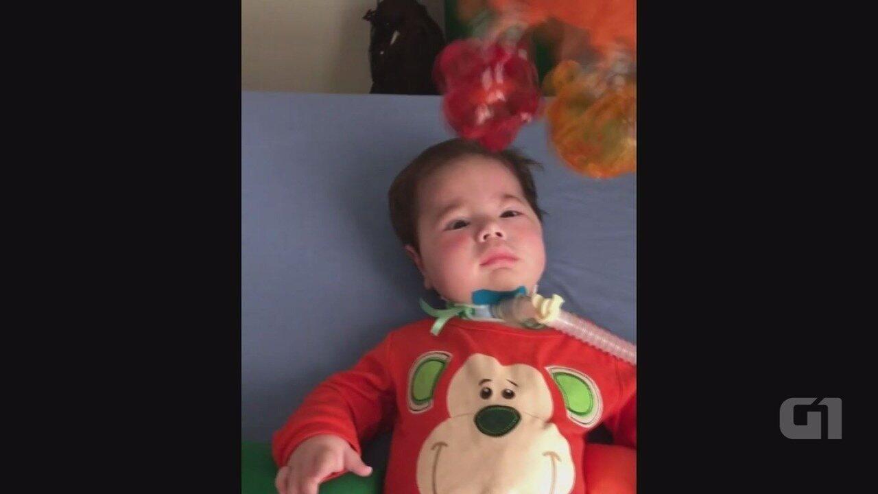 Resultado de imagem para Bebê com doença rara completa 1 ano e família comemora evolução após tratamento de R$ 3 milhões