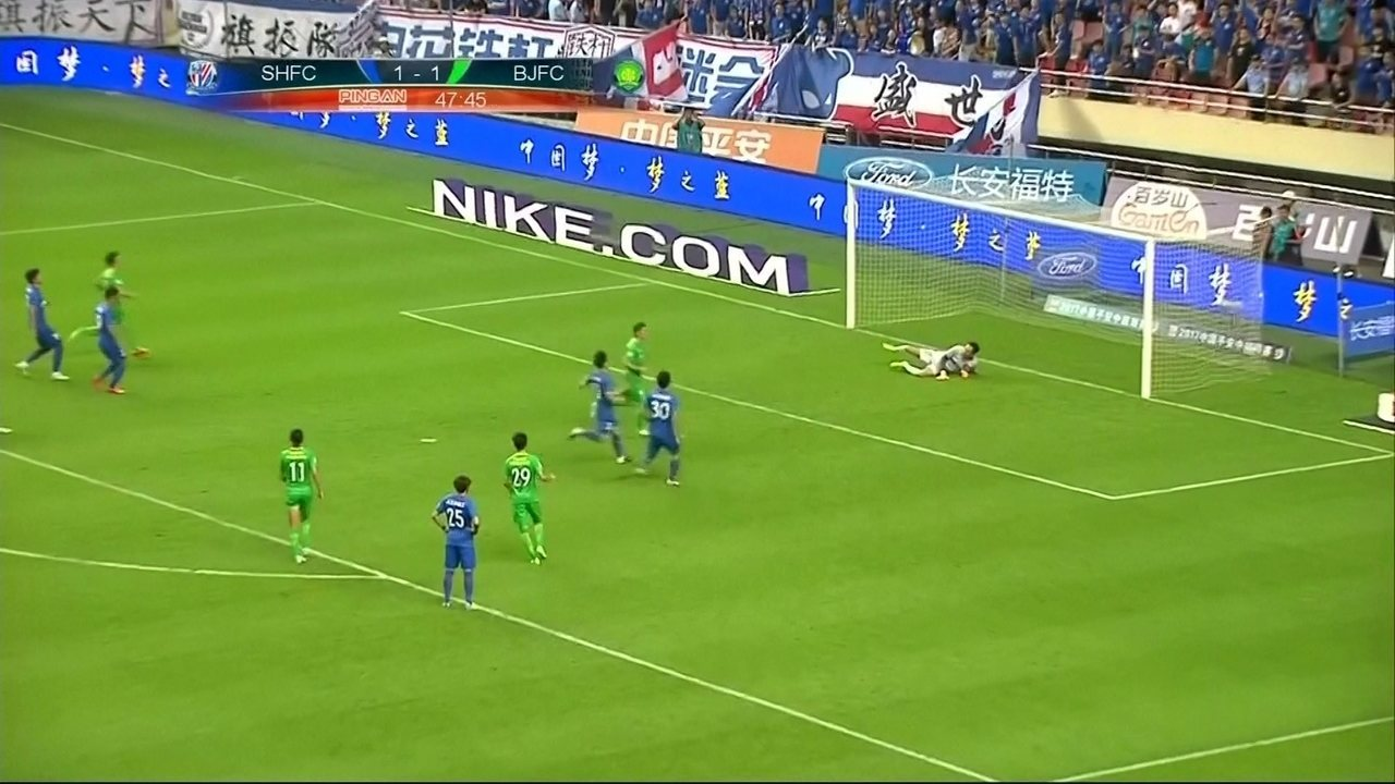 Os gols de Shangai Shenhua 1 x 2 Beijing Gouan pelo campeonato Chinês