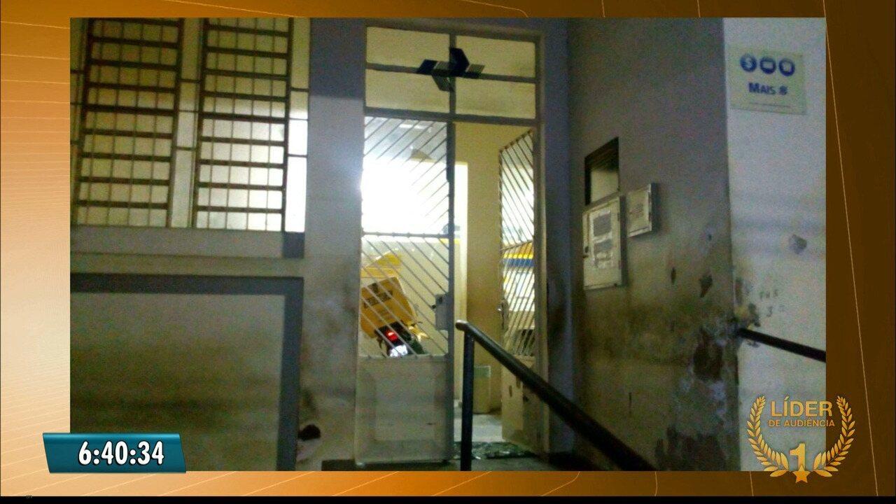 Grupo explode caixa eletrônico e agência dos Correios em Serra Branca, no Cariri da Paraíba