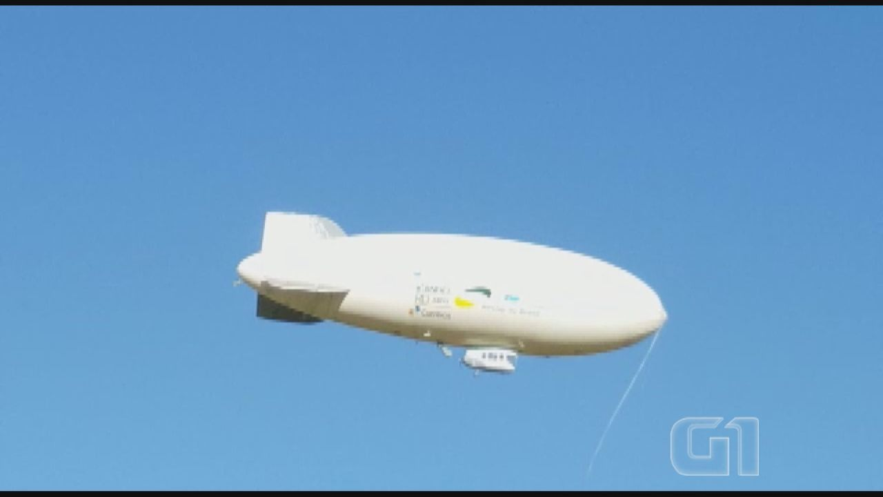 Primeiro dirigível tripulado da América Latina é lançado em São Carlos, SP