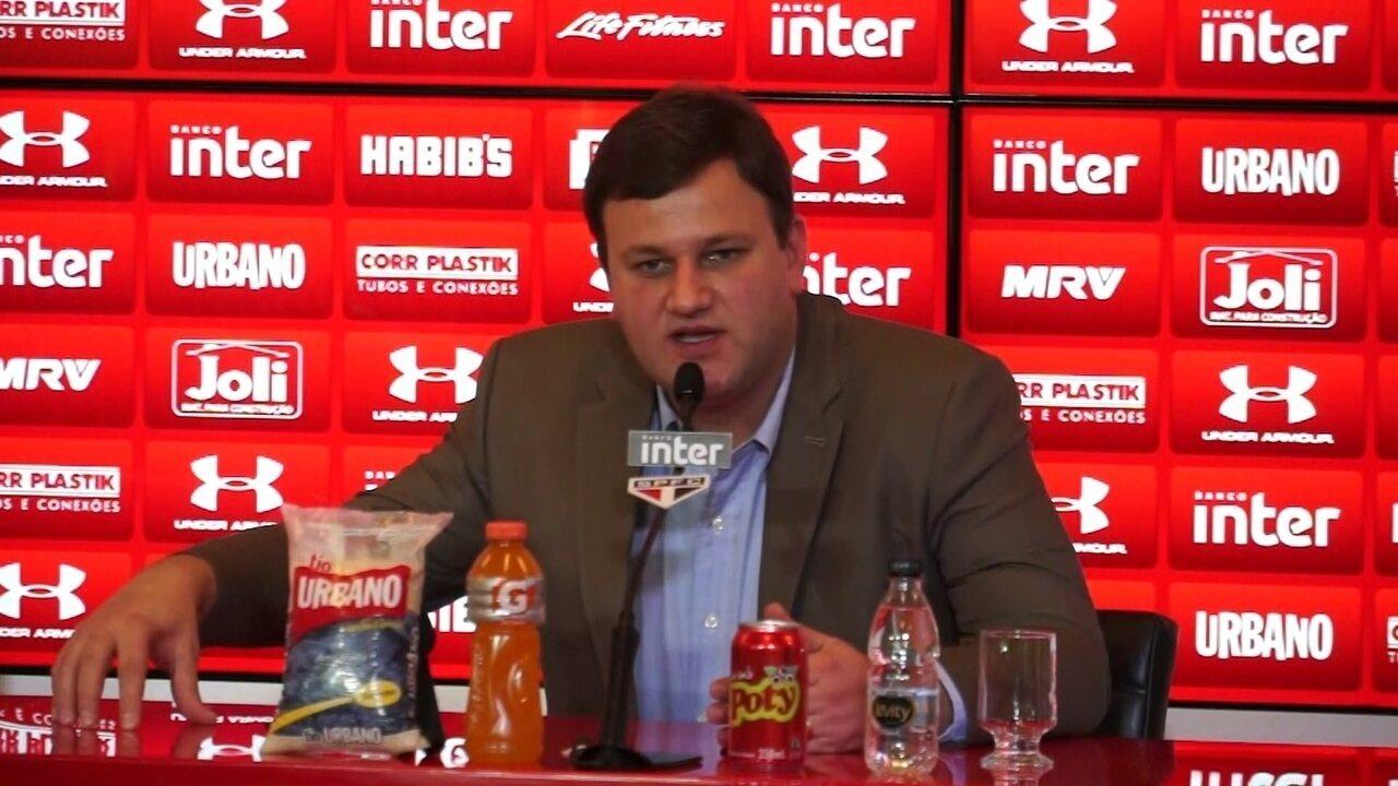 Diretor do São Paulo diz que não procurou rival para ter Walter
