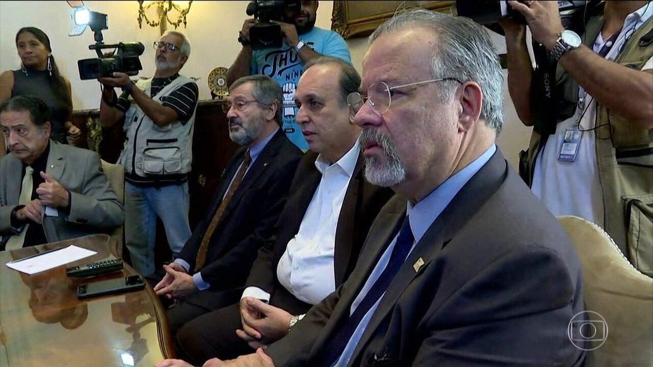 Jungmann se reúne com Pezão e Secretário de Segurança do Rio para discutir sobre violência