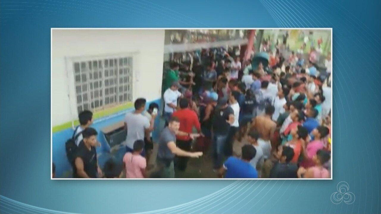 População tenta invadir delegacia no interior do AM