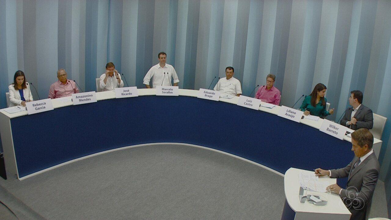 Assista à íntegra do debate de candidatos ao governo do Amazonas