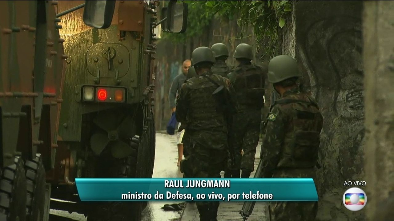 Ministro Raul Jungmann fala sobre a Operação Onerat no Complexo do Lins