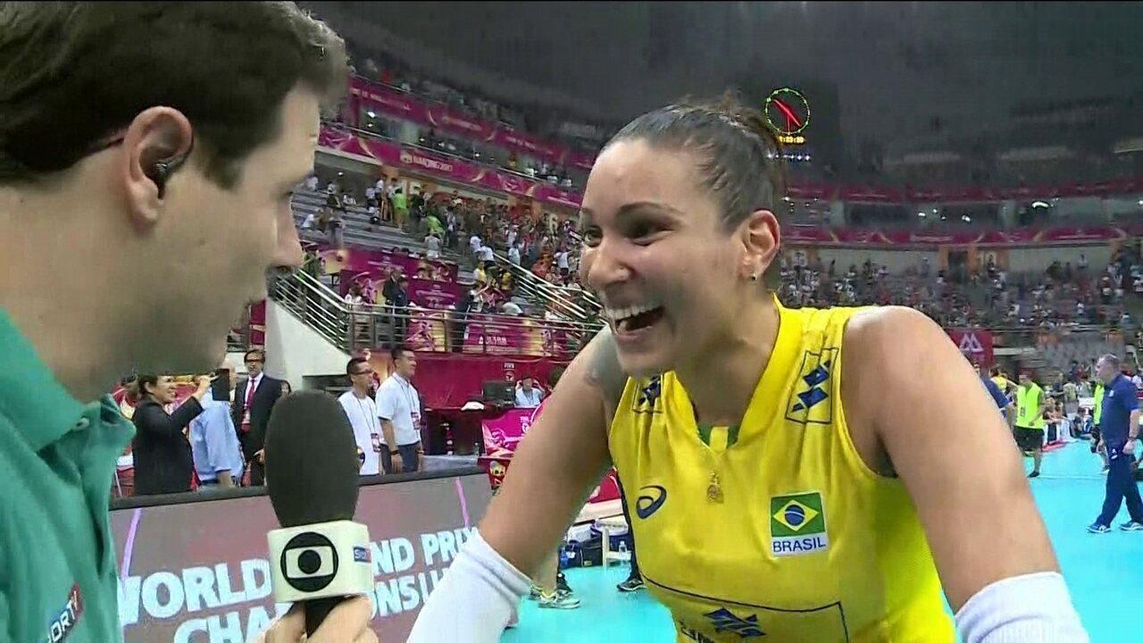 Tandara diz que atitude do Brasil fez a diferença na final do Grand Prix