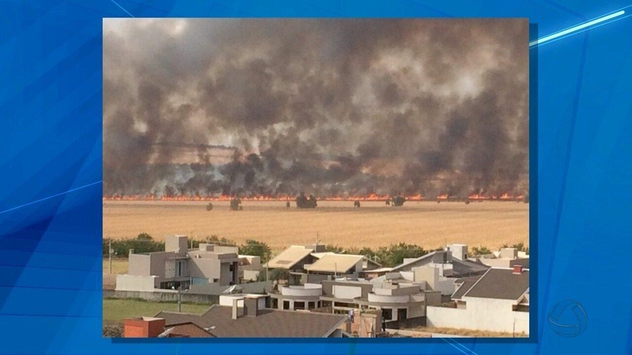 Trator explode em incêndio e produtor tem 80% do corpo queimado