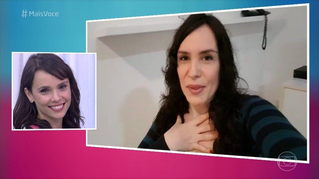 Maria Clara Spinelli manda recado para Débora Falabella