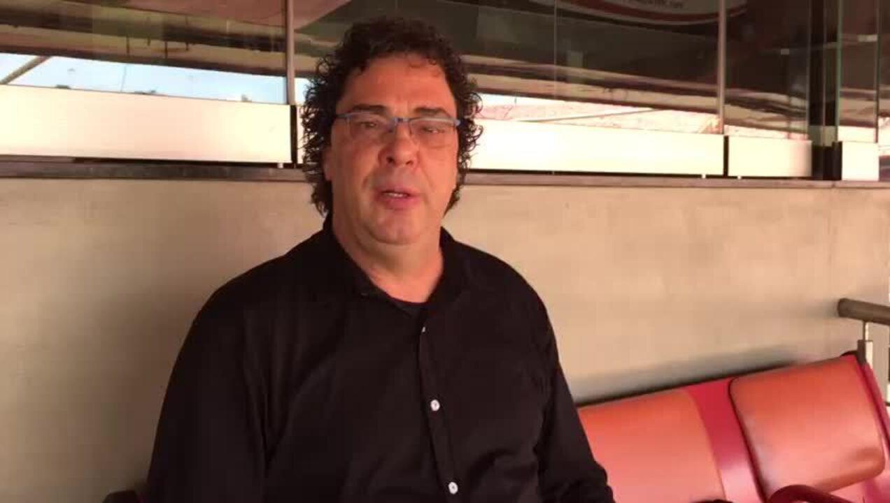Casagrande chama para a entrevista com Leco, presidente do São Paulo, que será exibida no Globo Esporte SP neste sábado