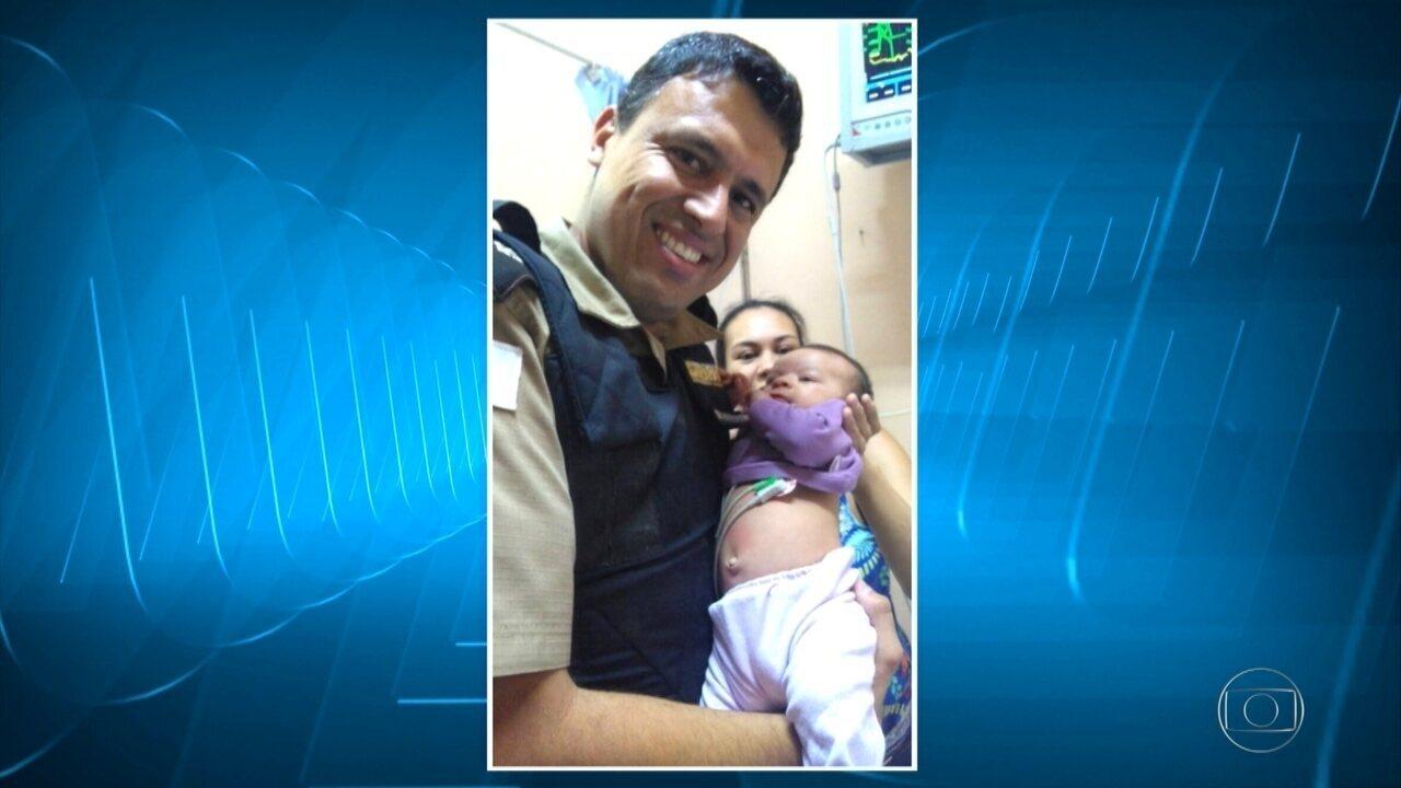 Bebê é salva depois de se engasgar com leite materno em Betim