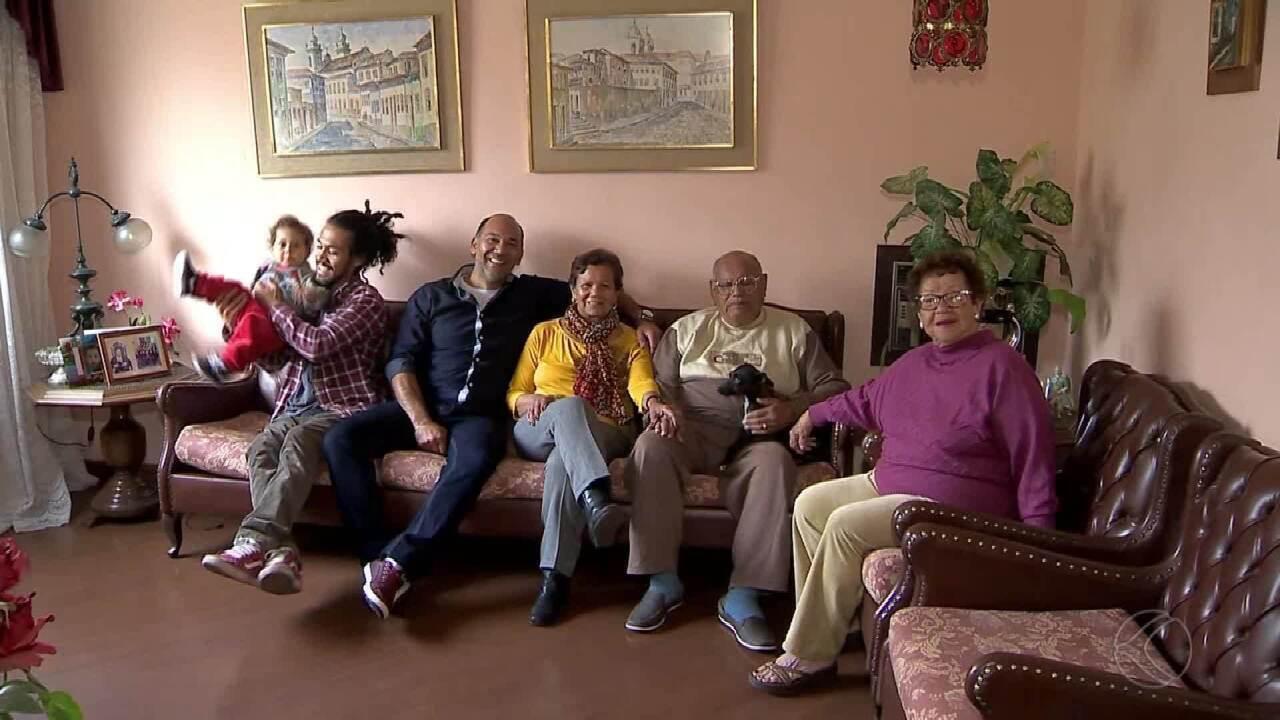Família de Juiz de Fora comemora Dia dos Pais com tataravô