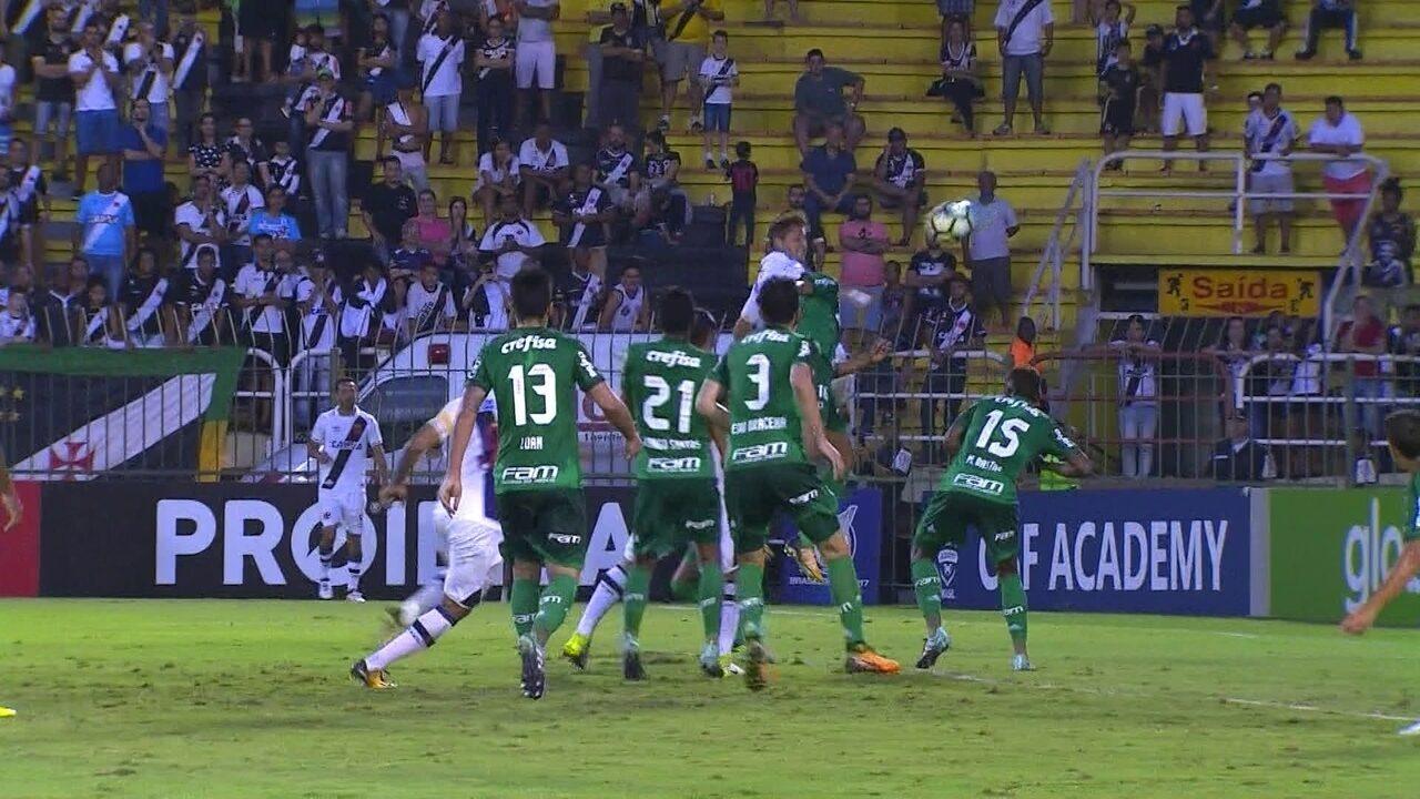 Os gols de Vasco 1 x 1 Palmeiras pela 20ª rodada do Brasileirão 2017