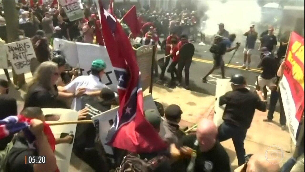 Moradores tentam entender violência em Charlottesville, nos EUA