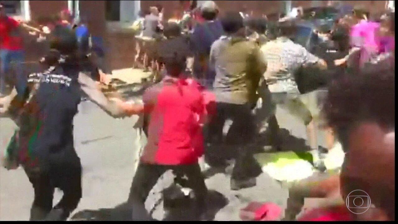Imagens mostram o momento do atropelamento em Charlottesville, nos EUA