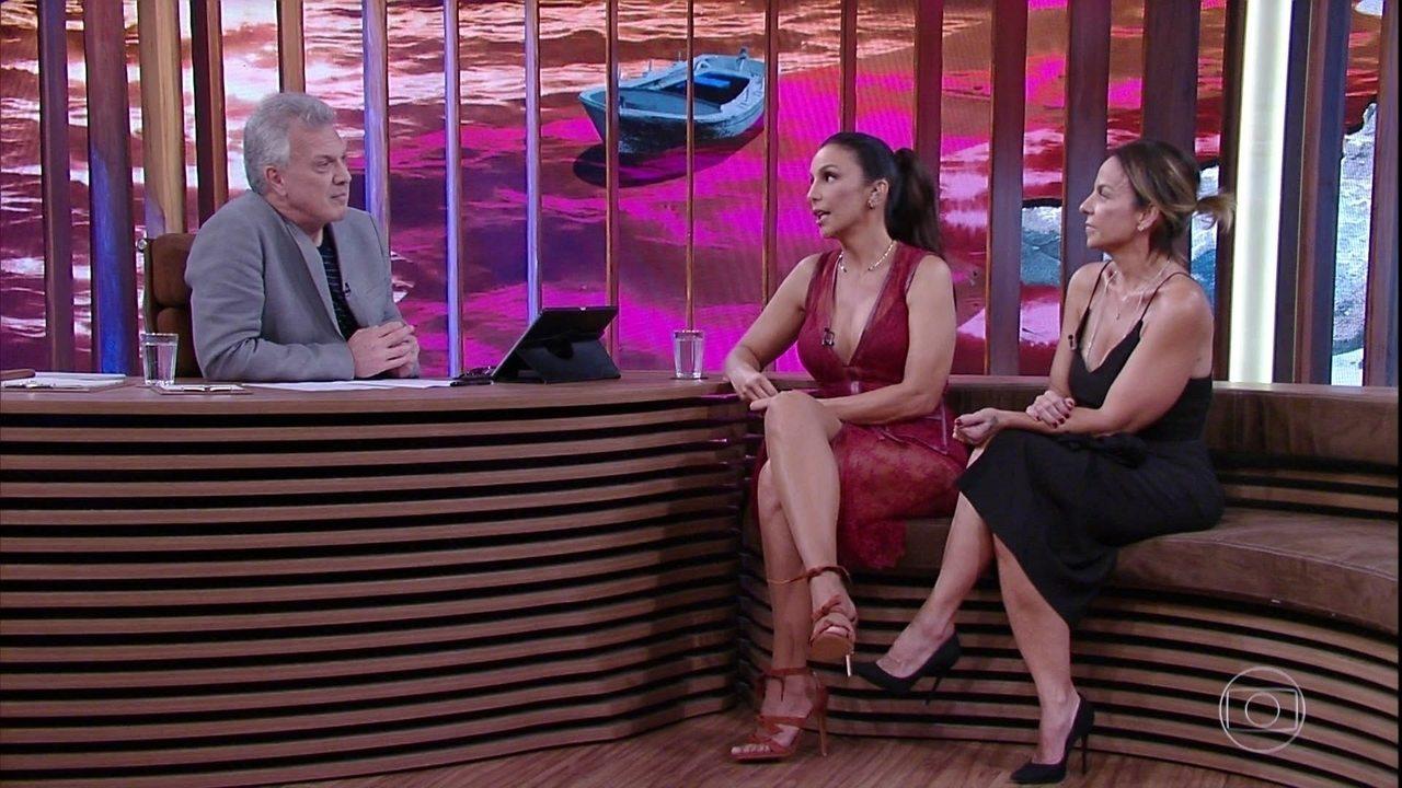 Ivete Sangalo fala sobre convivência com a irmã, Cinthia Sangalo