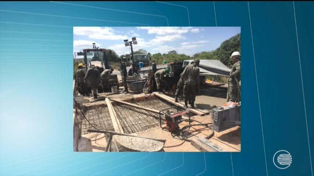 Ponte entre Piauí e Ceará permanece interditada pelo 2º BEC