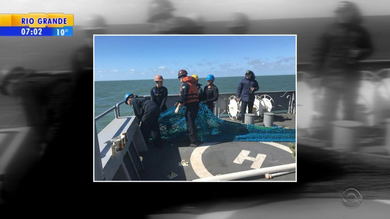 Rede de pesca achada no RS é identificada como equipamento de pesqueiro desaparecido