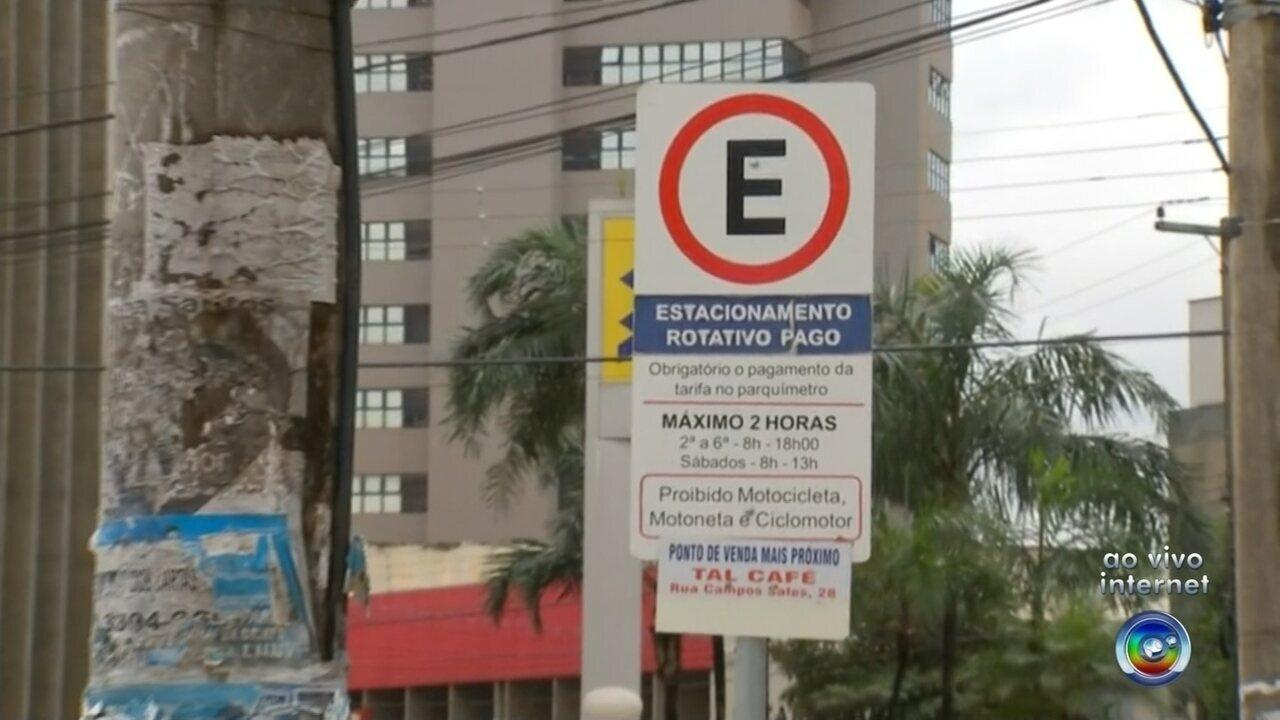 Valor das tarifas da zona azul em Araçatuba será reajustado a partir do dia 1º de setembro