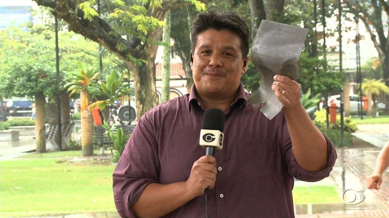 Carta furtada da mão da estátua de Esperidião Rodrigues é recuperada