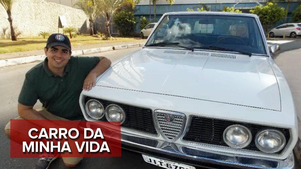 O carro da minha vida: Alfa Romeo do Felipe foi comprado como sucata e restaurado