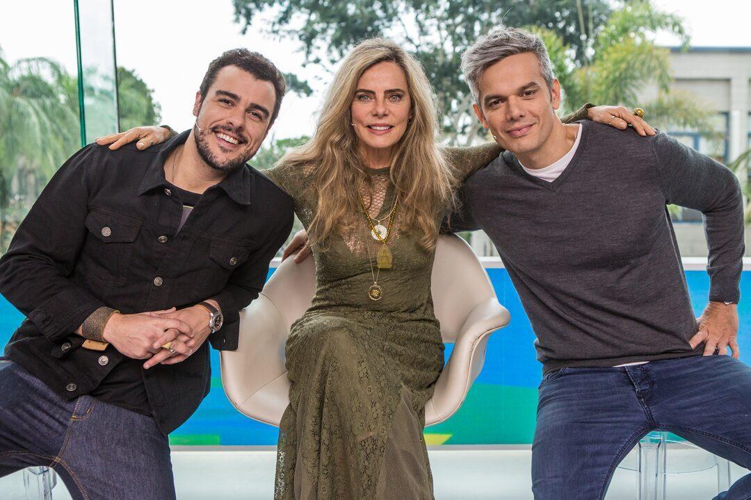 Bruna Lombardi revistou a carreira no 'Vídeo Show'