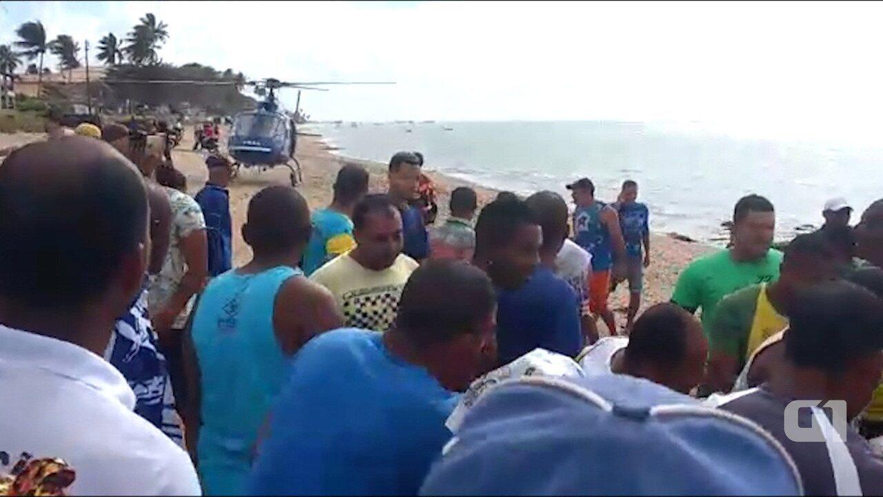Naufrágio na Baía de Todos os Santos: veja imagens do resgate às vítimas