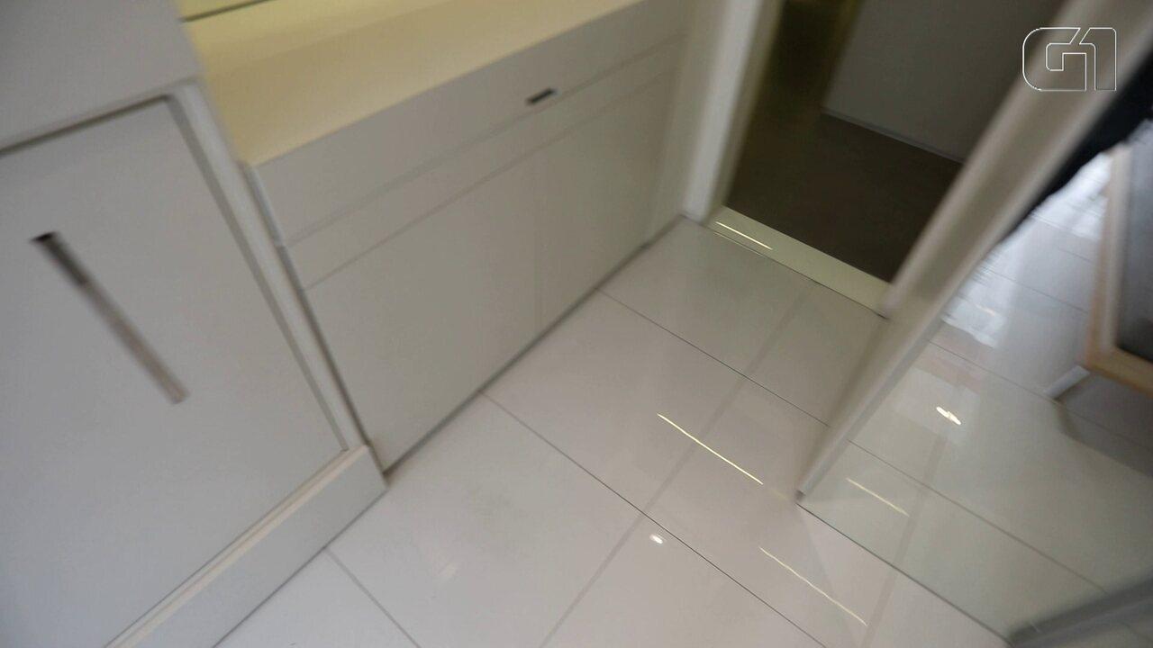 G1 visitou um apartamento decorado de 14 metros quadrados