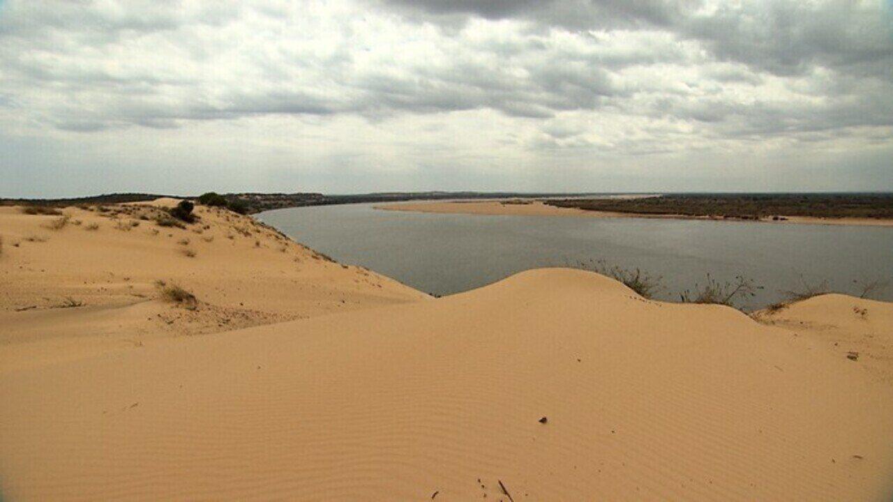 Força do vento na região do Médio São Francisco cria fenômeno das dunas geleias